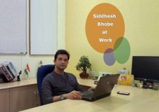 Siddhesh Bhobe at Work
