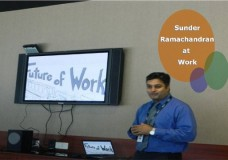 Sunder Ramachandran at work