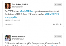 Storify of #IndiaHRLIVE show with Dr.T.V Rao
