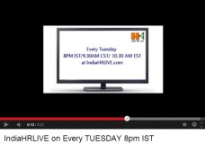 India HR LIVE broadcasts on every TUESDAY 8PM IST
