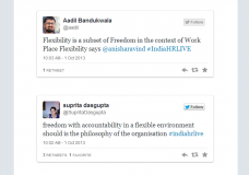#IndiaHRLIVE storify Oct 1st on #Workplace #Flexibility