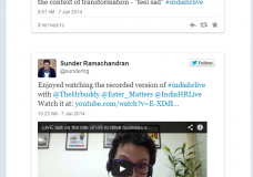 #IndiaHRLIVE storify Jan 7th 2014 on #HR driving business