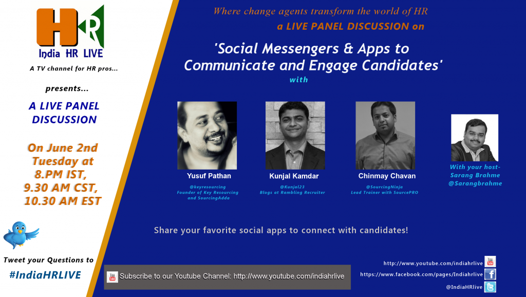 Social Messengers & Apps to Communicate and Engage candidates